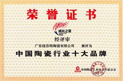 中國陶瓷行業十大品牌