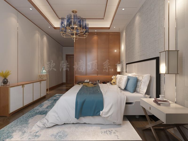 碳晶板卧室效果图2-全屋整装案例赏析效果图