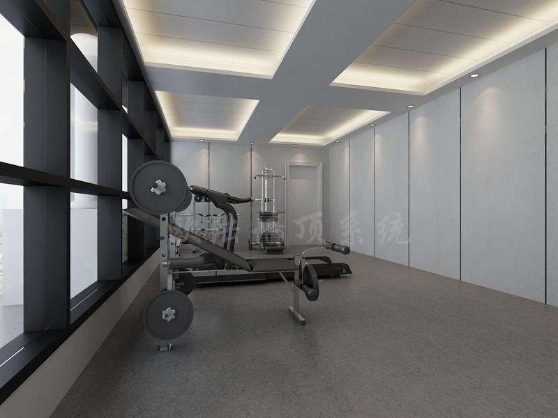 碳晶板健身房效果圖-全屋整裝案例賞析效果圖
