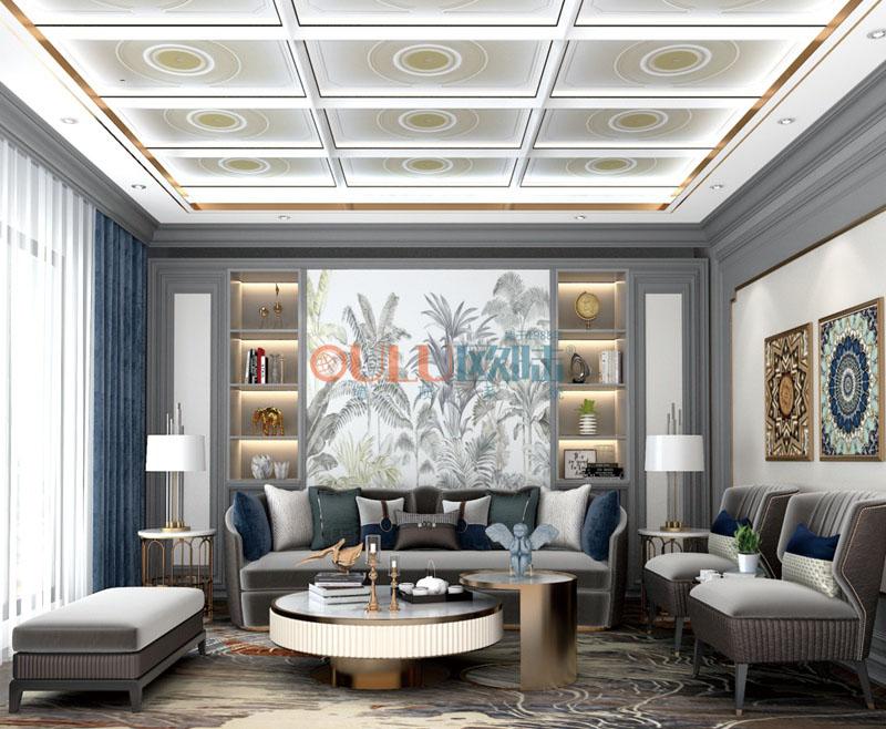 2019年新品 精裝大板 菲澳燈 客廳吊頂-全屋整裝客廳吊頂效果圖