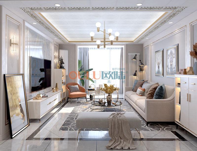 白葉羅蘭 客廳吊頂-全屋整裝客廳吊頂效果圖