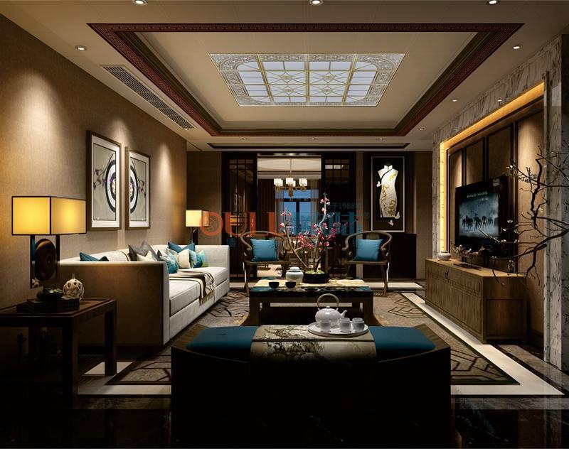 現代簡約風格古典清幽系列 客廳吊頂-全屋整裝客廳吊頂效果圖