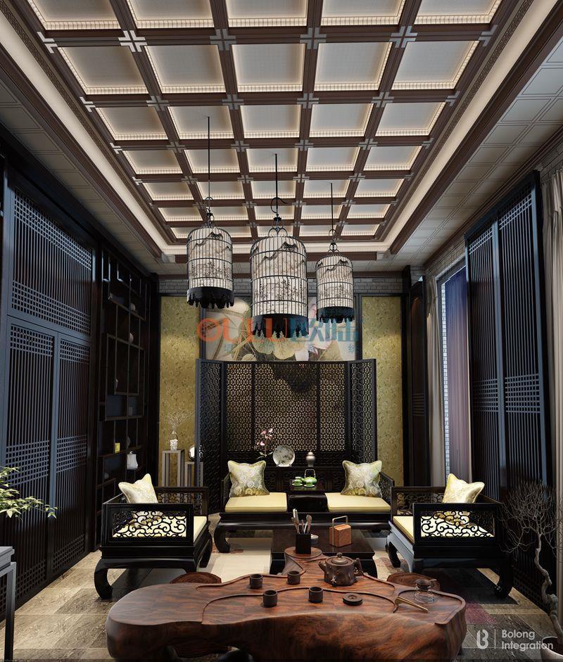江南系列 餐廳吊頂-全屋整裝餐廳吊頂效果圖