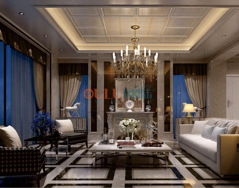 歌韻系列羅曼2 客廳吊頂-全屋整裝客廳吊頂效果圖