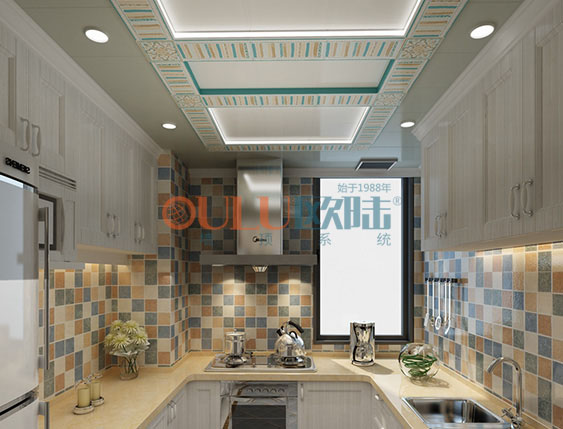 恋人蓝调、浓情蓝调系列  厨房吊顶-全屋整装厨房吊顶效果图