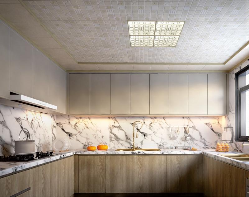 新欧式花样倾城厨房集成吊顶墙整装效果图